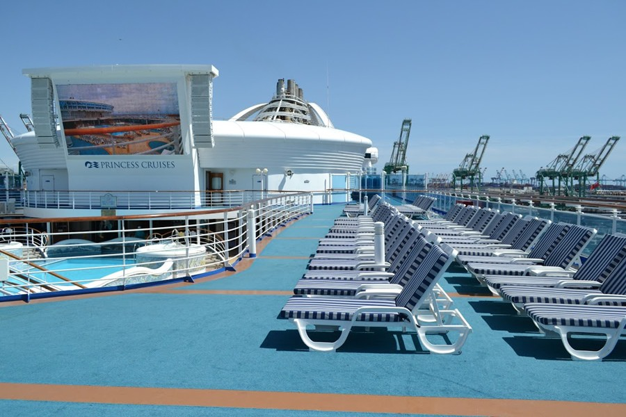 NP Loungers on Deck 15 with MUTS in Background